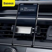 Support dévent de Support de téléphone de voiture de Baseus pour liphone XS 11 Samsung 4.7 6.5 pouces Support automatique de téléphone portable Support de téléphone de voiture