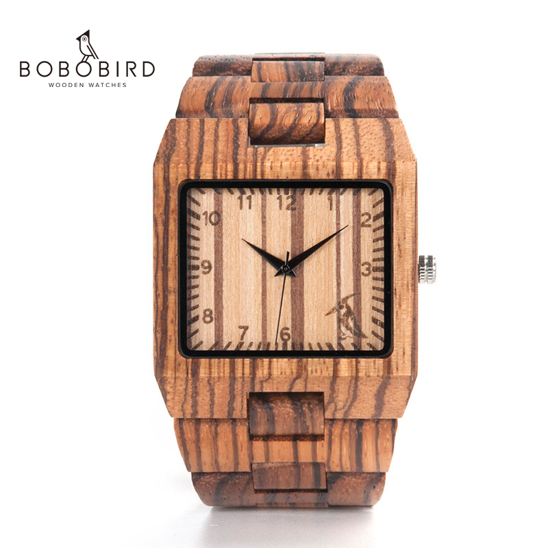 Image 2 - ボボ鳥新到着メンズ腕時計 L24 ゼブラ木製腕時計メンズ高級ブランドデザインすべての木材クォーツ腕時計ギフトボックスwristwatch brandwristwatch menswristwatch wood -