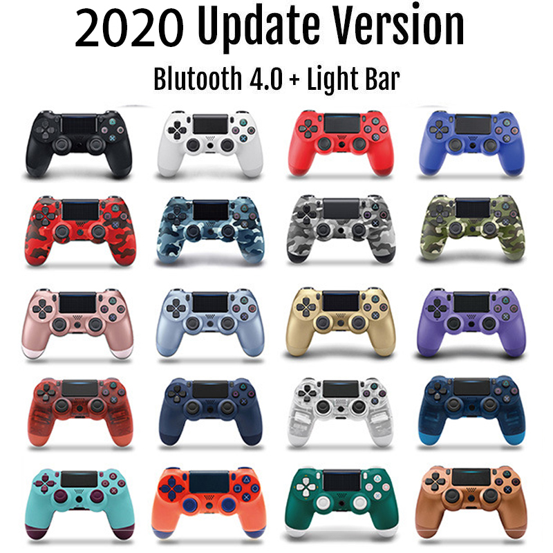 Wireless Wired Bluetooth PS4 Controller Double Shock Joystick PC For Console Controller Gamepad Mando Manette PS 4 On PC