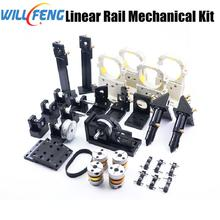 Will Feng Linear Rail Metal Mechanical Components Laser Transmission Parts Install DIY CNC Co2 Laser Engraving Cutting Machine