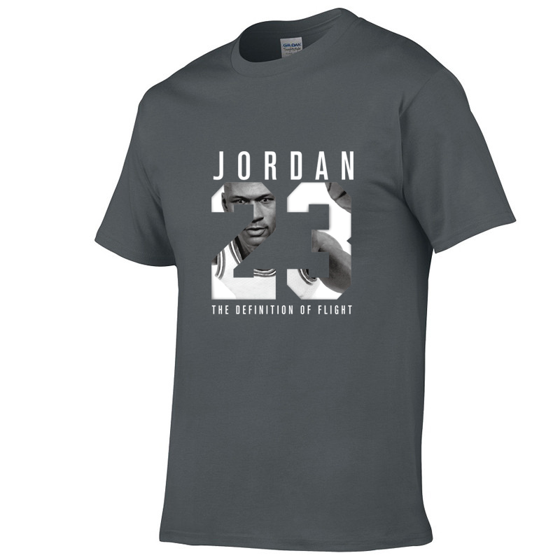 2020 Summer New Brand <font><b>Jordan</b></font> <font><b>23</b></font> Print Men T-Shirt Boy Girl Quality Cotton Tees Tops Hip Hop <font><b>Short</b></font> Sleeve Harajuku T Shirt Men image