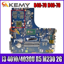 Akemy ZIWB2/ZIWB3/ZIWE1 LA-B091P для Lenovo B40-70 N40-70 Материнская плата ноутбука процессор I3 4010/4030U R5 M230 2G DDR3 100% тесты работы