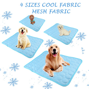 Summer Dog Cooling Mat Sky Blue Ice Pad Cool Pet Beds Sofa Cushion   3