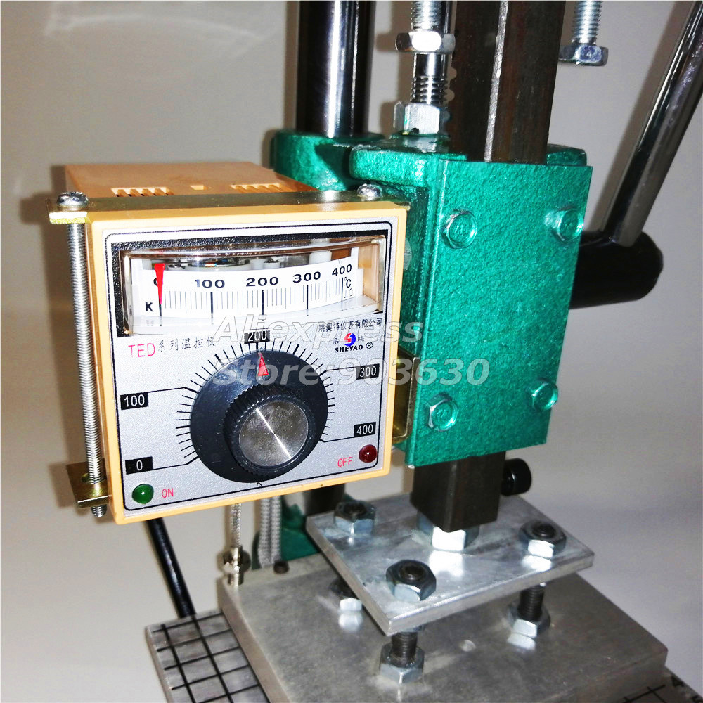 Купить с кэшбэком Manual Hot Foil Stamping Machine Bronzing Machine for PVC Card leather and paper embossing Tipper LOGO heat press machine