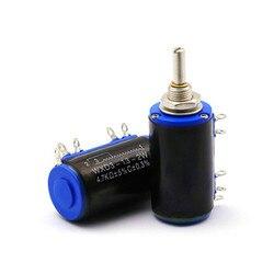 2 шт. WXD3-13-2W 10K ohm WXD3-13 2 Вт Электрический поворотный боковой поворотный многооборотный проволочный потенциометр