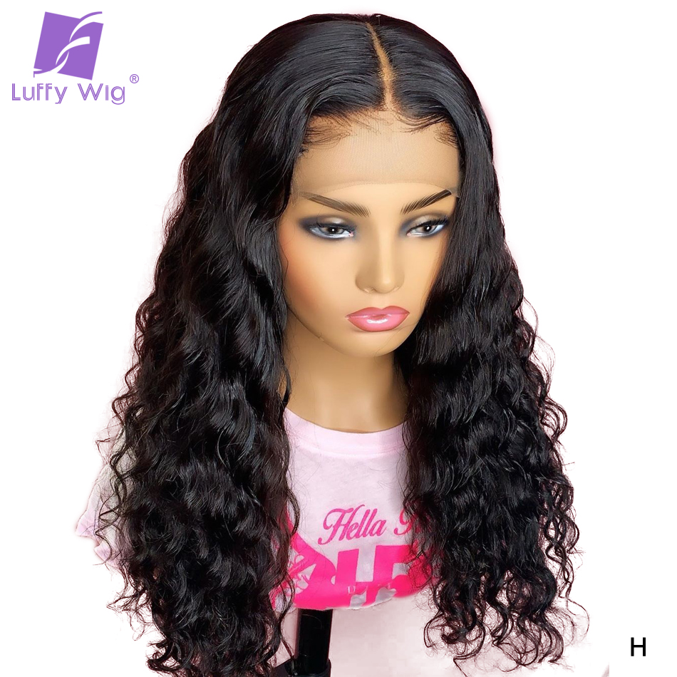 13x6 Lace Front Loose Deep Wave Wig Remy Peruvian Human Hair Fake Scalp Wigs PrePlucked Bleached Knots For Women 130%-180% LUFFY