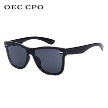OEC CPO Oversized Mens Sunglasses Unisex Fashion Mirror Coating Sun Glasses Women Top Quality Metal Hinges Luxury Oculos  O112