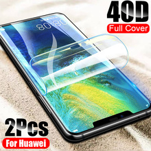 2Pcs 40D Screen Protector For Huawei P30 P20 Lite Pro Soft Film For Huawei Mate 20 Lite Mate10 P30 Pro Nova 3 3i Hydrogel Film