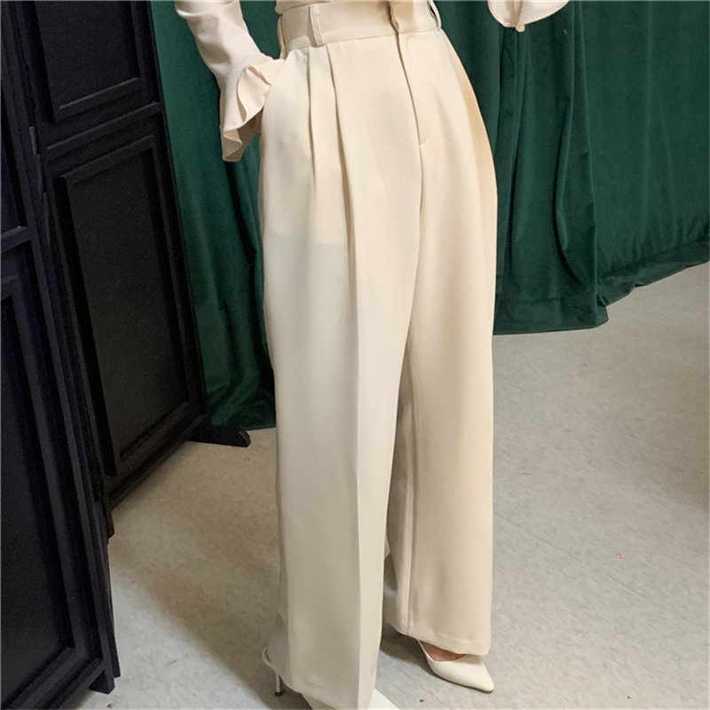 Alien Kitty New High Quality Casual Women Simple Straight 2019 Autumn Chic Women Brief High Waist Solid Full-Length Trousers