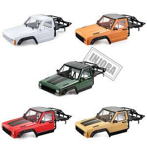 Image 2 - INJORA RC Car Cherokee Body Cab & Back Half Cage for 1/10 RC Crawler Traxxas TRX4 Axial SCX10 90046 Redcat GEN 8 Scout II