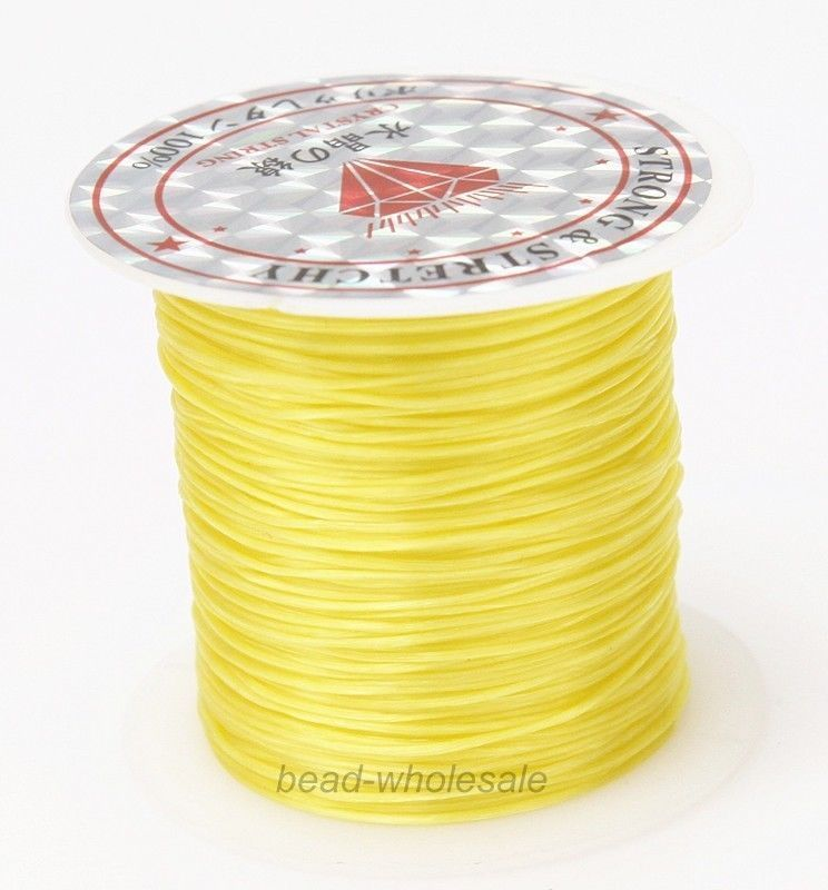 393 дюйма/рулон, крепкий эластичный шнур для бисероплетения с кристаллами, 1 мм, для браслетов, стрейчевая нить, ожерелье, сделай сам, для изготовления ювелирных изделий, шнуры, линия - Цвет: Color 19
