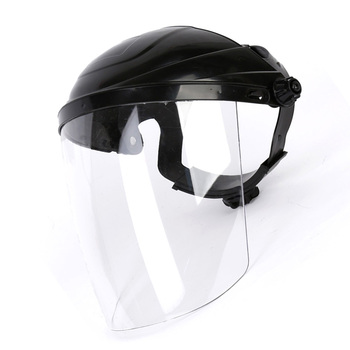 2X Full Face Shield Cover Clear Flip Up Visor Eye Protection Safety Work Guard