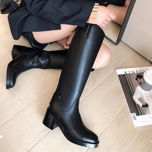 Women knee-high boots natural