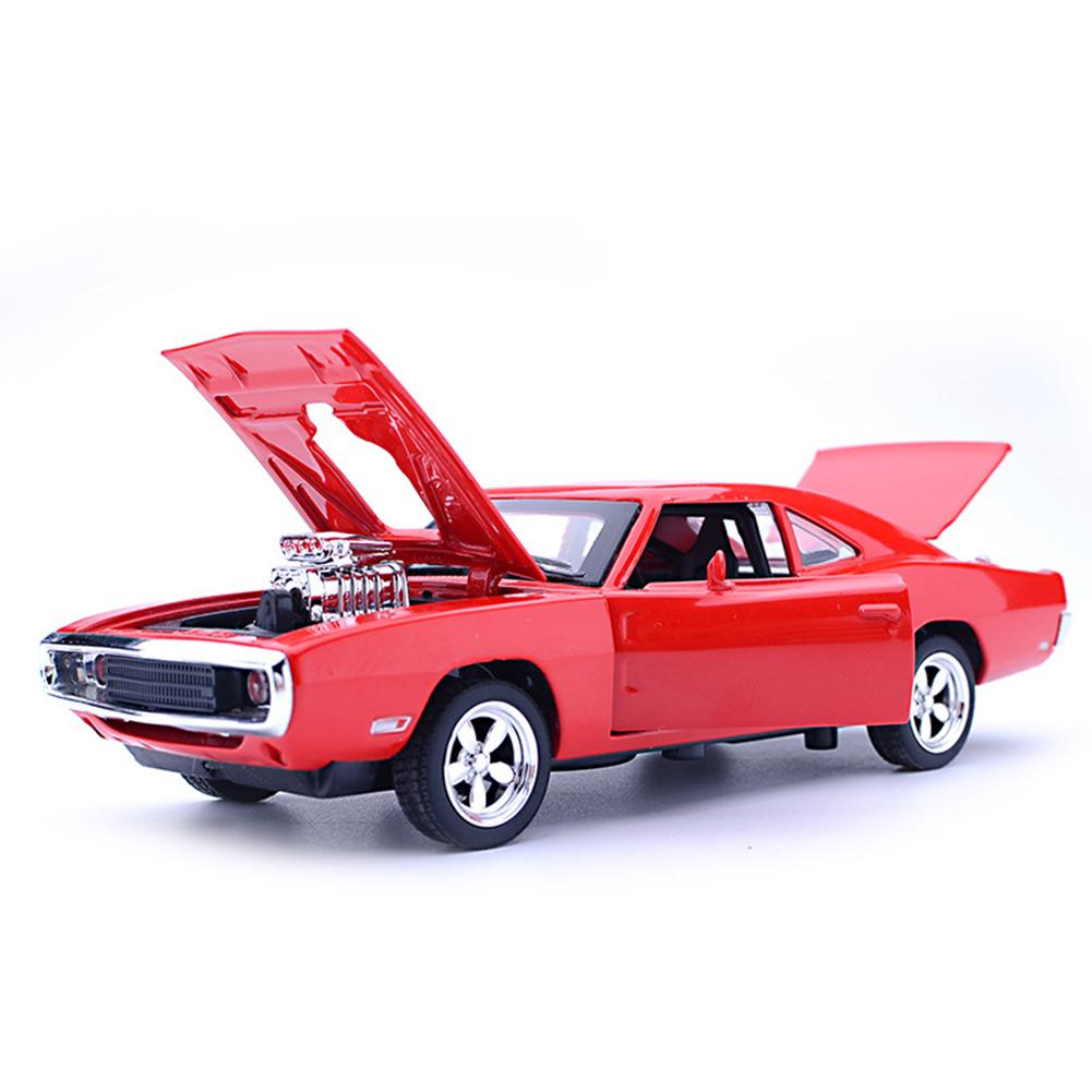 1/32 For Dodge Diecast Pull Back Car Music LED Model Kids Toy Decor Stranger Things Jouet