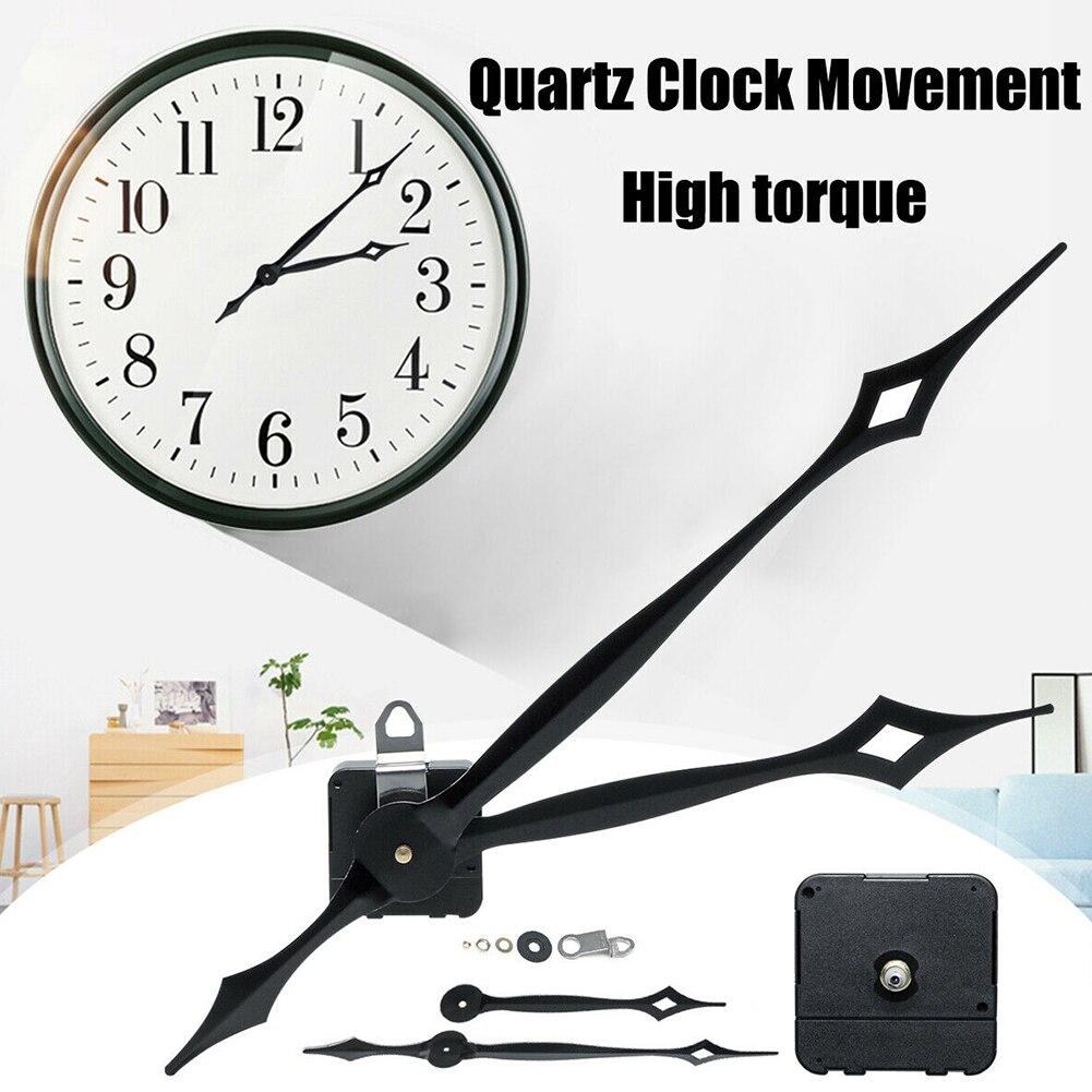 High Torque Accessories Quartz Clock Movement Kit Motor Mechanism Wall Large DIY Silent Hour Minute Hands Essential Tool Repair