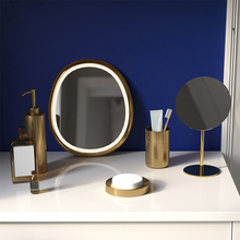 Bathroom Wash Set Gold 304 Stainless Steel Soap Dispenser Perfume Bottle Toothbrush Rack & Cups Toilet Brush Holder Wedding Gift