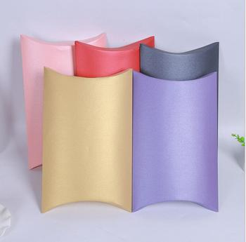 20pcs 27*21*5cm Hot Sale Pillow Box Large Packing Birthday Present Paper Box Colorful Paper Gift Jewelry Box For Wedding Party