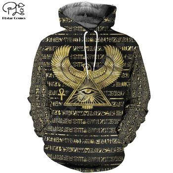 PLstar Cosmos Horus Egyptian God Egyptian Symbol Pharaoh Anubis Tracksuit 3DPrint Zipper/Hoodies/Sweatshirt/Jacket/Men/Women s-5 rev michael day god s divine alignment god s divine assignment volume 1