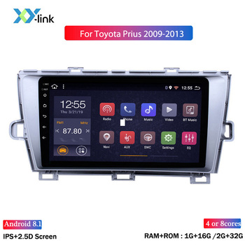 9 inch screen Android 8.1 GPS Navigation car Radio for 2009-2013 Toyota Prius LHD car multimedia player with Bluetooth USB WIFI image