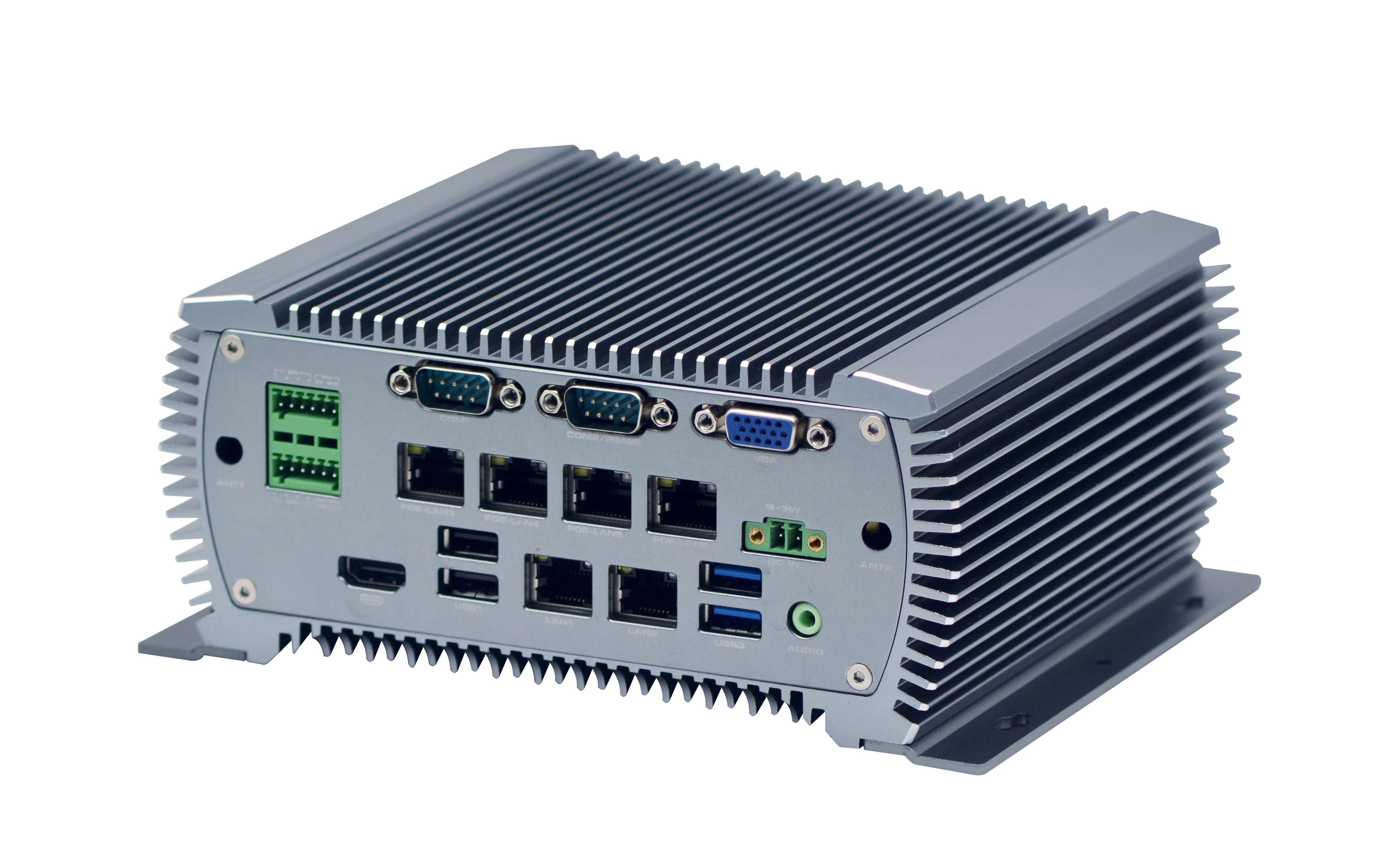 Industrial Mini Computer Mini PC Core I5 6360U 2.0GHZ 2*COM 6*LAN POE 6*USB HDMI Windows Linux Nettop Fanless
