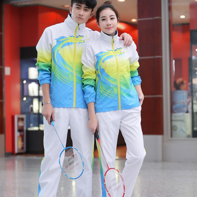 Chinese Team Men And Women Sports Clothing Set Couples Long Sleeve Taekwondo Long Gown Sports School Students School Uniform Cus