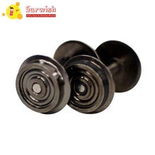 Surwish 2Pcs 1:87 Universal Modified Wheel For HO Scale Model Train - Black(China)