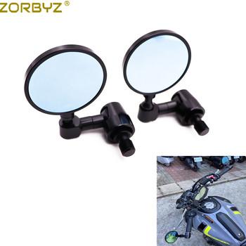 ZORBYZ motocykl czarny CNC okrągły kierownica koniec boczne lustro z 16mm Bolt-on dla Yamaha XSR700 XSR900 FZ8 FZ6 MT-09 MT-07 MT-03 tanie i dobre opinie CN (pochodzenie) C L1876 0inch Aluminum Lusterka boczne i akcesoria 0 65kg