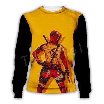 Tessffel Hot movie Deadpool Marvel Harajuku Casual Colorful Tracksuit Hiphop New Fashion 3DPrint Unisex Sweatshirts Men Women s2 1