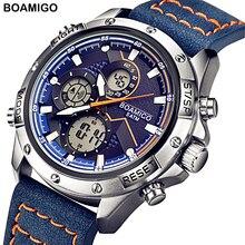 BOAMIGO 2020 New Sport Watch Men Military Digital analog Quartz Chronog