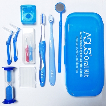 Portable Oral Clean Tool Orthodontic Oral Care Kit Tooth Brush Mouth Mirror Interdental Brush Dental Floss Orthodontic clean kit 8pcs orthodontic dental care kit set braces toothbrush foldable dental mirror interdental brush with carrying case oral tools