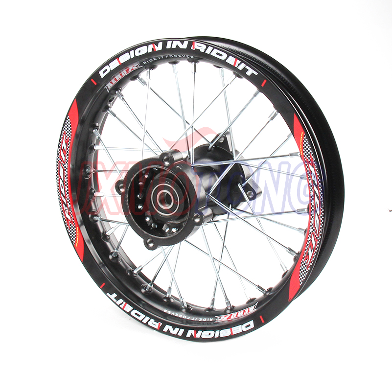 1.85x12 inch Pit Bike Rear Wheels For KAYO BSE Apollo Xmotos CRF50 CRF70 KLX110 TTR110 125 140 160cc Dirt Bike MX Spare Parts image