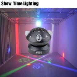 Мощный луч точечный лазерный узор 4 в 1 Dj светодиодный движущийся головной свет неограниченный поворот хорошее использование для домашней в...