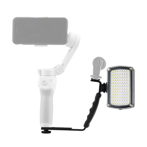 Image 2 - for DJI OM 4 OSMO Mobile 2 3 ZHiyun Smooth 4 Feiyu LED Flash Lights Support Light Stand Steady Bracket Extension Arm Accessories