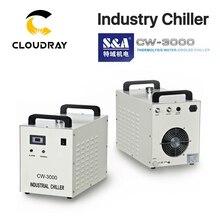 Промышленный водяной охладитель Cloudray S & A CW3000 для CO2 лазерной гравировальной режущей машины охлаждение 60 Вт 80 Вт лазерная трубка dg110в AG220V