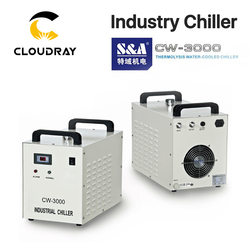 Cloudray S & Een CW3000 Industriële Water Chiller Voor CO2 Lasergravure Snijmachine Cooling 60W 80W Laser buis DG110V AG220V