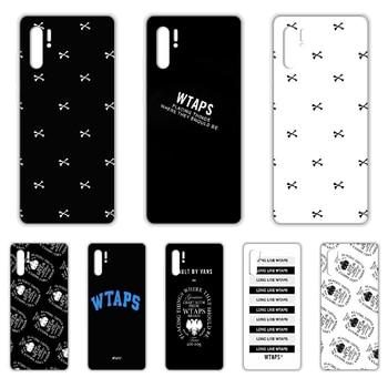 Marca de moda japonesa WTAPS, funda de teléfono para HUAWEI p 8 9 10 20 30 40 P pro Smart 2017 2019 Z lite, funda transparente para móvil, tendencia