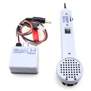 Тоновый генератор Встроенный громкоговоритель Высокая точность пластик Питание от аккумулятора 200EP сетевой кабель тестер измерительный и...