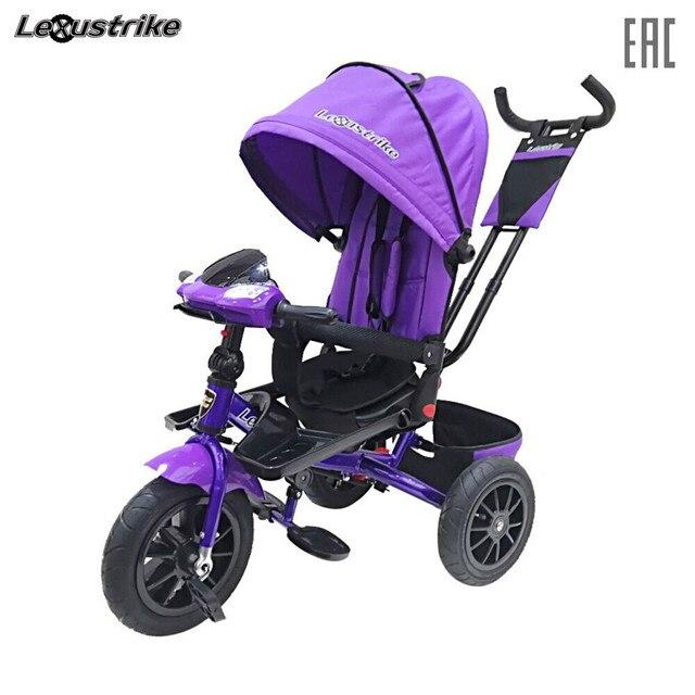 Велосипед детский 3-х колесный Lexus trike, надувные колеса 12 и 10, светомузыкальная панель, поворт. сид., доставка от 2-х дней