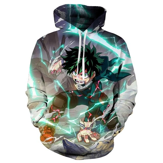 Mijn Hero Academia Midoriya Izuku Cosplay Hoodie Sport Gym Kostuum Deku Cosplay Sweatshirt