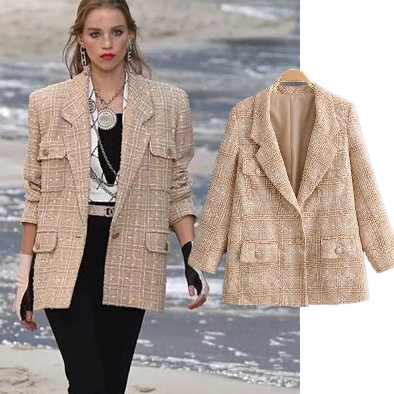 runway enlgand vinatge oversize Woollen cloth blazer feminino blazer women blazer mujer 2019 women blazers and jackets
