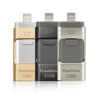 Unidades Flash USB Compatible con iPhone/iOS/Apple/iPad/Android y PC 128GB [3-en-1] Lightning OTG salto 3,0 lápiz de memoria USB
