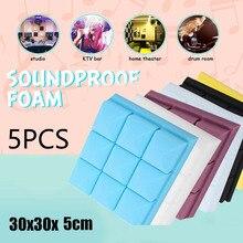 5 шт. 30x30x5 см студийная акустическая Звукоизоляционная пена Звукопоглощающая обработка панель плитка Клин Защитная губка
