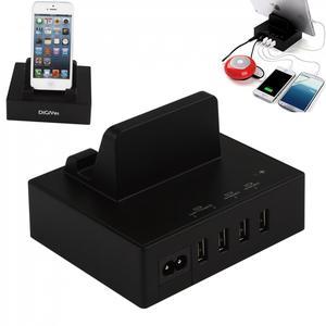 DiGiYes 4-Порты и разъёмы Универсальный Мульти-устройство настольная зарядная станция Семья USB док-станция Подставка для смартфонов и Планшеты