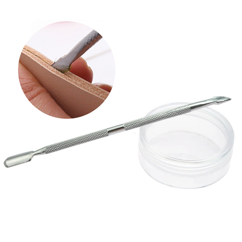 LMDZ 1Pc Silver Stainless Steel Dual Head Glue Stick ,Leather Edge Oil Pen for Leather Painting and Leather DIY Product