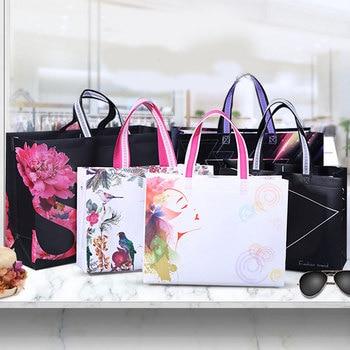 Eco Waterproof Women Shopping Bag Reusable Shopping Bag Print Tote Bag No Zipper Pouch Women Storage Bags Organizer Hot Sale calico print tote bag