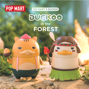 Image 4 - POP MART Duckoo Duck figure in the forest Blind Box Doll Binary Action Figure Birthday Gift Kid Toy