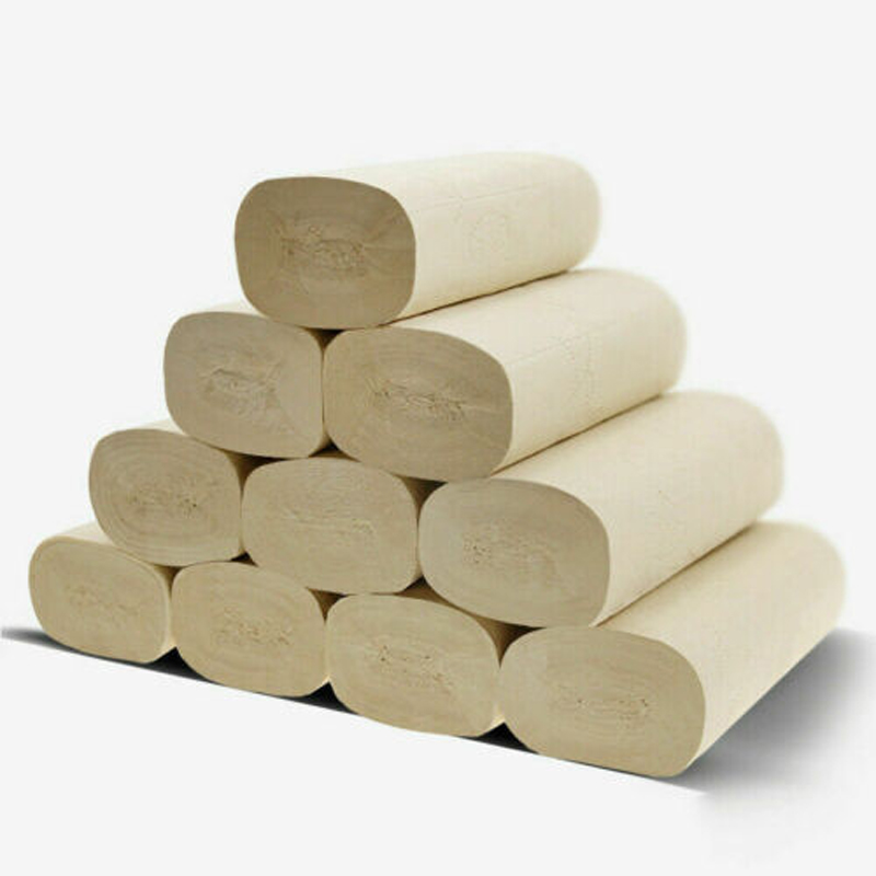 16 Rolls Natural Bamboo Toilet Paper 4Ply Bulk Tissue Bathroom Soft Papers