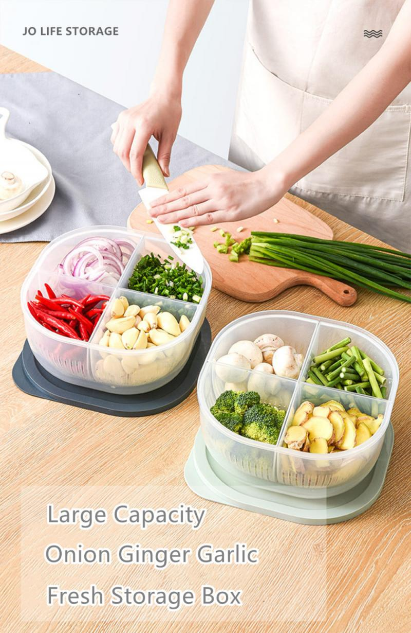 4 In 1 Onion And Garlic Drained Storage Box