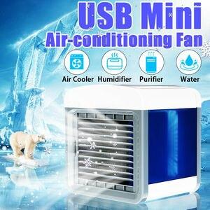 Image 5 - MINI AIR Conditioner พัดลมระบายความร้อนแบบพกพา Humidifier เครื่องปรับอากาศ Cooling Desktop พัดลมสำหรับ Home Offic