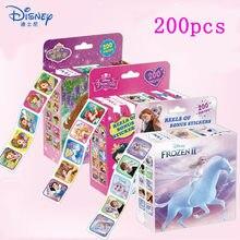 200 pçs/caixa disney congelados adesivos removíveis encontrar nemo mickey princesa sofia decoração caderno diário adesivo brinquedos estéticos